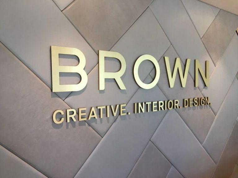 Metal and acrylic laminated letters- Brushed Gold Laminate - Wholesale Sign Manufacturer - Elite Letters & Logos